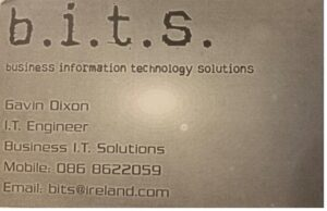 BITS old business card